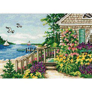 Bayside Morning Chart DIY Counted Cross Stitch Patterns Needlework