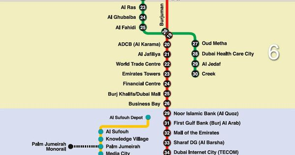 dubai metro map 2016 pdf