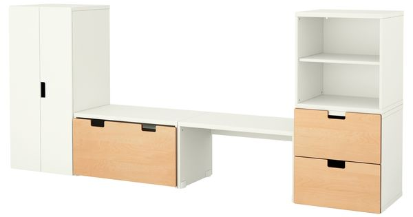 stuva banc de rangement blanc bouleau ikea kids 39 room chambres d 39 enfants pinterest. Black Bedroom Furniture Sets. Home Design Ideas