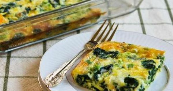 Spinach and Mozzarella Egg Bake Recipe Breakfast and Brunch with fresh spinach,