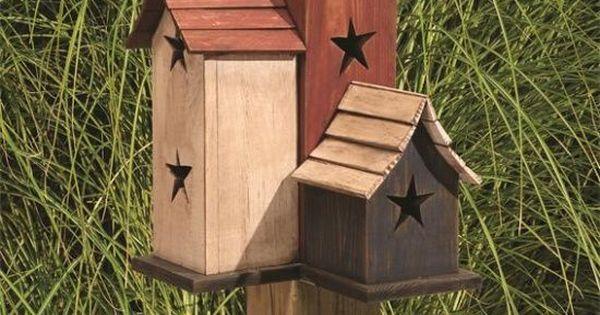 trio garden bird house gardens facebook and primitive wood crafts
