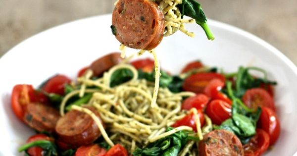 Pesto, Chicken sausage and Sausages on Pinterest