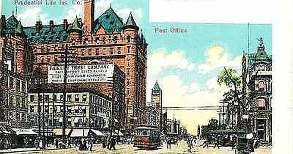 Newark New Jersey 1908 Prudential Life Insurance Co Post Office