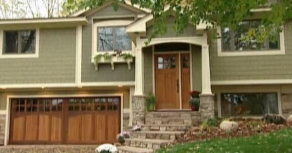 Raised Ranch Makeovers Exterior Home Makeover Split Level Home With Craftsman Addition To