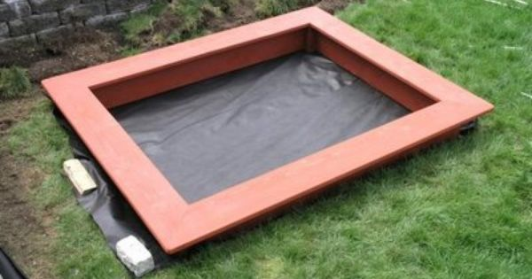 how to build a sandbox with seats - Sandbox Design Ideas
