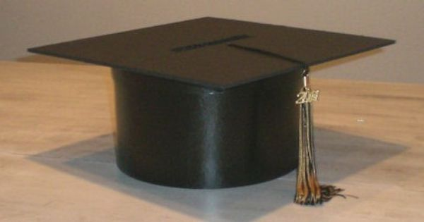 Diy Graduation Cap Gift Box Materials Paper Mache Round