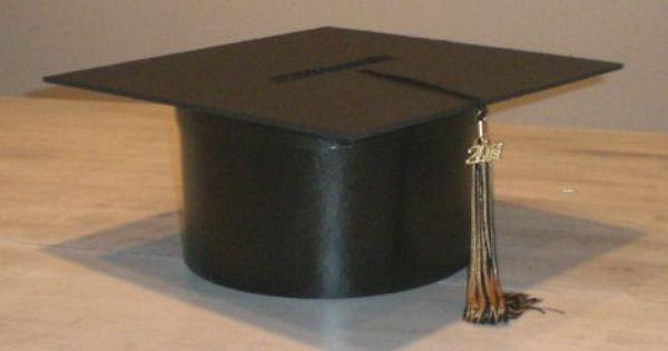 Diy Graduation Cap Gift Box Materials Paper Mache Round