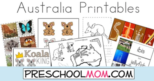 Australia Printables: Animal ABC's, Photo Wordwall ...