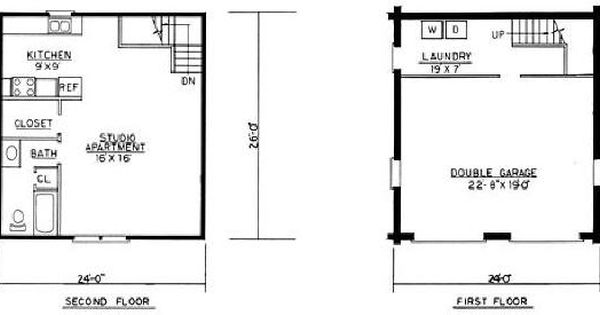 Mother in law apartment with garage free home plans for Mother in law garage plans