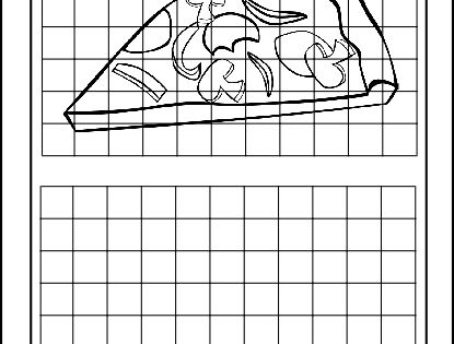 grid drawings for art drawing with grids worksheets art pinterest colouring pizzas and. Black Bedroom Furniture Sets. Home Design Ideas