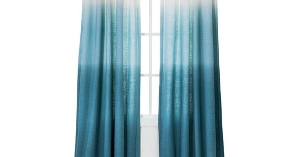Blue Ombre Window Curtains: Ombré Turquoise Curtains(: