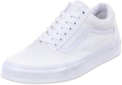 zapatillas vans old school blancas