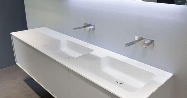 Waschtisch aus corian arco by antonio lupi design design for Badezimmer corian