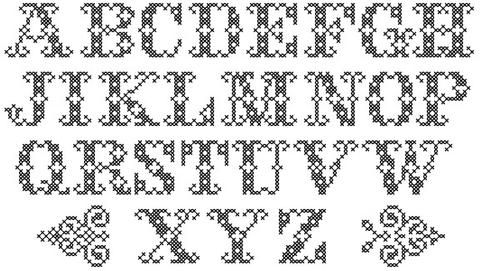 Trojan War Font Package Cross Stitch Pattern PDF