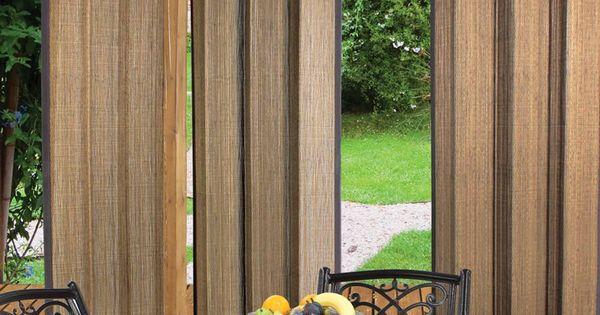 Cortinas de bambu de exteriores tipo biombo cortinas - Cortinas para exteriores ...