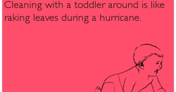 5117c3d1ab93348323bef611e1d1eb16 quote on baby ecard cleaning with a toddler around is like raking,Raking Leaves Meme