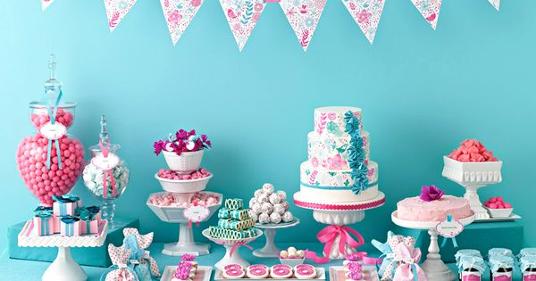 tiffany blue and chocolate baby shower | Awesome Candy Buffet Ideas for
