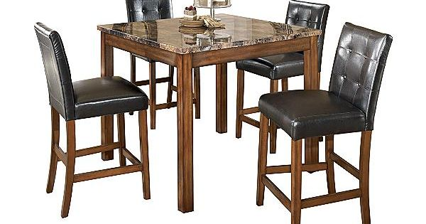 The Theo Counter Height Dining Room Table With 4 24