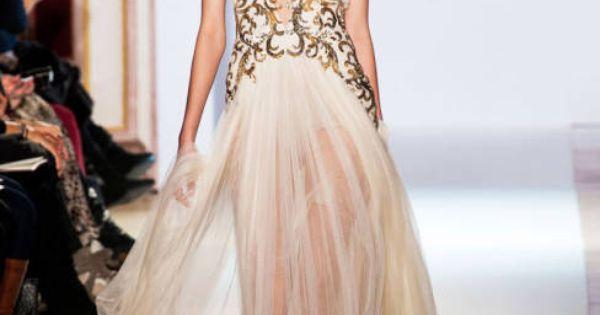 Chiffon, gold dress
