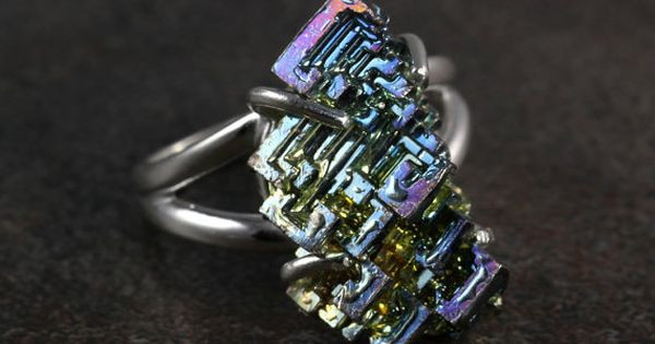 Bismuth Small Engagement Ring