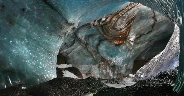 River under Vatnajökull Glacier, Iceland; also known as the Vatna Glacier, it
