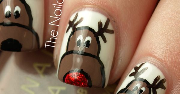 christmas nail art designs | Cute Christmas DIY Nail Art Ideas