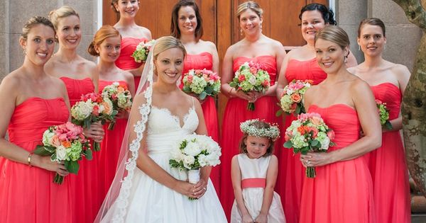 Love Lane &quot-Tori&quot- long dress in &quot-Persimmon&quot- -coral bridesmaid dress ...