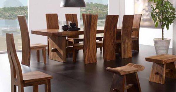 Mesas de comedor de madera suwar decoraci n beltr n tu for Catalogo de comedores de madera