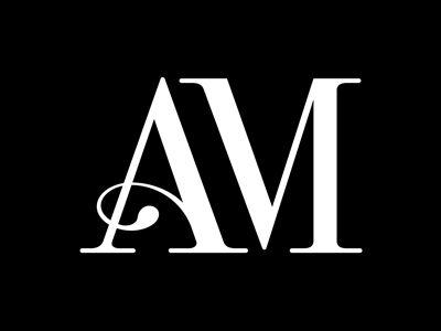 Am Motif 01 Minimal Logo Design Wedding Logo Design Lettering