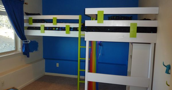 L Shaped Bunk Beds Double Loft Bed Do It Yourself Home
