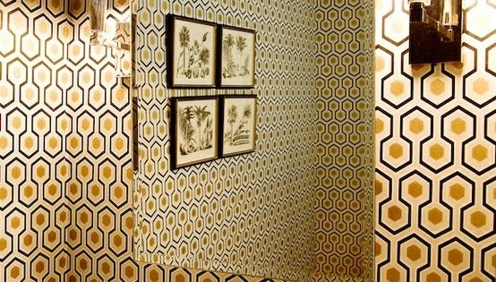 Hicks Hexagon Wallpaper By Cole Amp Son In Black Gold