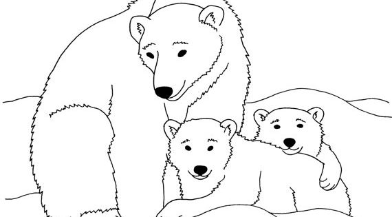 google polar bear coloring pages - photo#2