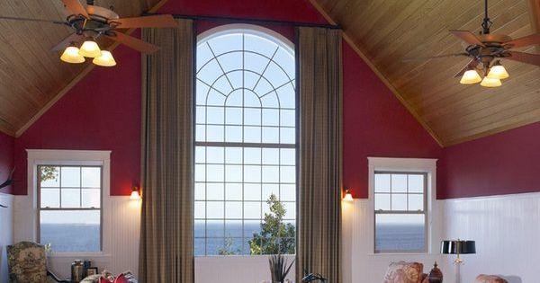 cathedral ceiling lighting ideas symmetric pendant fan chandeliers  실링팬 ...