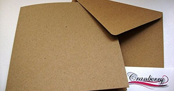 Papermania 50 x Square 13.5cm Quality Grade Recycled Brown Kraft Card Blanks