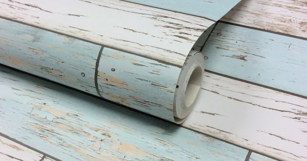 I love wallpaper rustic wooden plank wallpaper natural for Teal peel and stick wallpaper