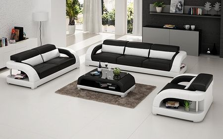 White Leather Sofa Set With Black Accents White Leather Sofa Set Italian Leather Sofa White Leather Sofas