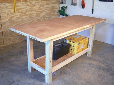 Easy To Build Workbench Extreme How To Building A Workbench Simple Workbench Plans Workbench