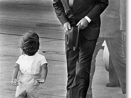 John F. Kennedy and his son, John F. Kennedy, Jr....father and son.