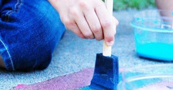 sidewalk chalk paint summer kids