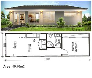 Image Buildings Granny Flat Design 5 1 Bedroom Granny Flat Small Modular Homes Tiny House Exterior