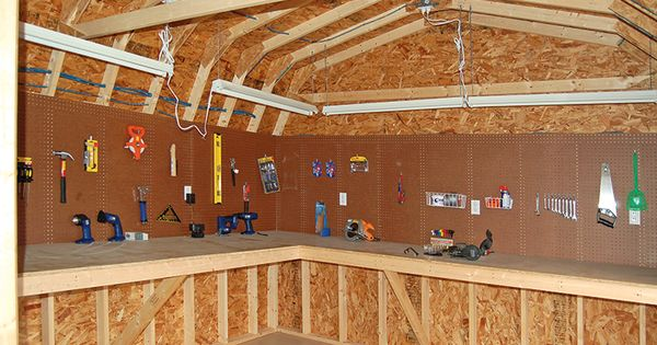 Great Workshop In The Shed Man Cave Ideas Pinterest