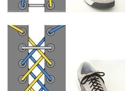 tying shoe lace in different styles