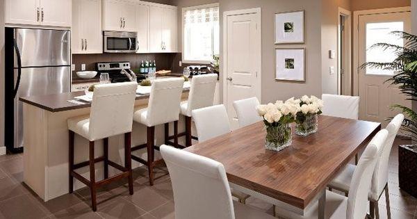 SallyL Cardel Designs - Offene Küche und Esszimmer mit Theke - offene küche mit theke