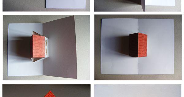 Pop up huis voor 39 t werk pinterest grafisch ontwerp inpakken en papier - Popup huis ...