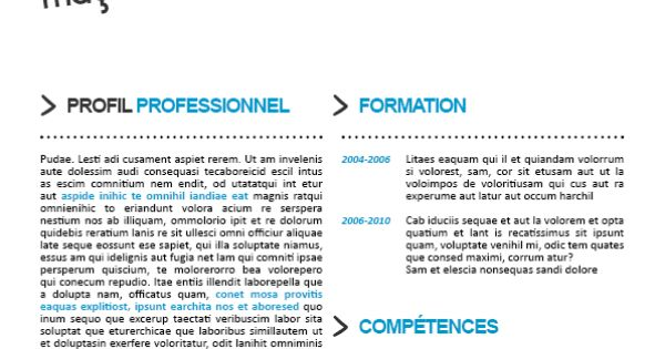 cv original atypique