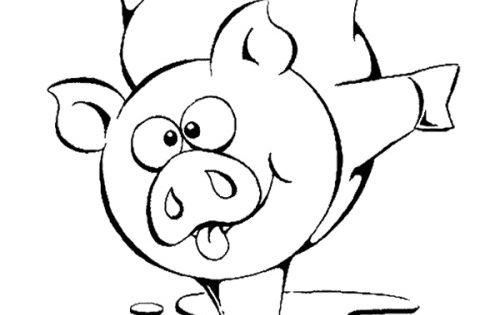 Cute Pig Coloring Pages For Toddlers Kids Coloring Pages
