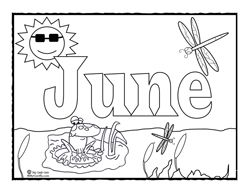 Coloring Page For June Preschool Coloring Pages Coloring Pages Free Coloring Pages