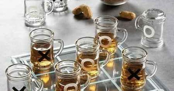 Shot Glass Tic Tac Toe Game Set w/ Mini Beer Mugs. Another