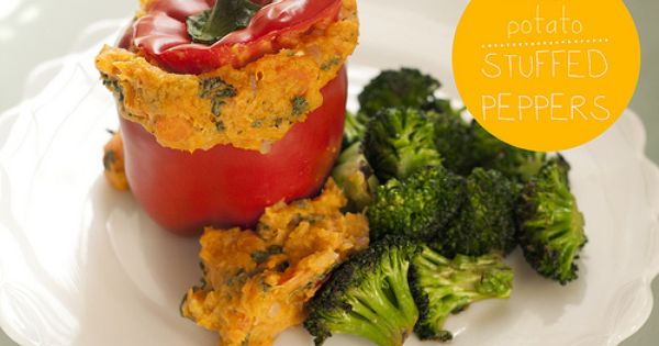 Vegan Sweet Potato Stuffed Peppers