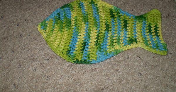 Fish Washcloth Dishcloth Free Pattern Crochet